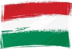 De vlag van Hongarije van Grunge Stock Afbeeldingen