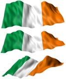 De Vlag van Ierland Stock Afbeeldingen