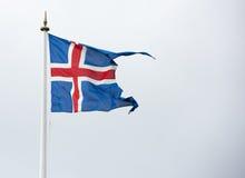 De vlag van IJsland - vlag van IJsland - Ijslandse vlag Royalty-vrije Stock Afbeeldingen