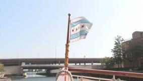De Vlag van Illinois stock video