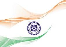 De vlag van India Stock Afbeelding