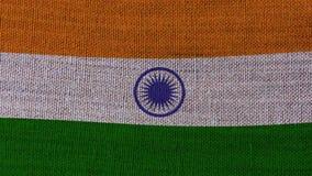 De Vlag van India stock video