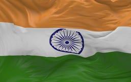 De vlag van India die in de 3d wind golven geeft terug Stock Fotografie