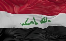De vlag van Irak die in de 3d wind golven geeft terug Stock Afbeelding