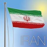 De Vlag van Iran Stock Foto