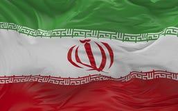 De vlag van Iran die in de 3d wind golven geeft terug Stock Afbeelding