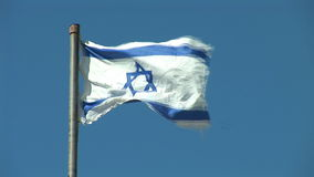 De Vlag van Israël stock footage