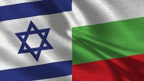 De Vlag van Israël en van Bulgarije - Vlag Twee samen stock foto's