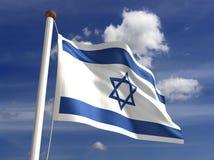 De vlag van Israël (met het knippen van weg) Stock Foto