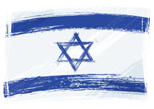 De vlag van Israël van Grunge Stock Afbeeldingen