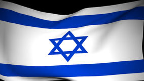 De Vlag van Israel Is Developing stock footage