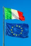 De vlag van Italië Europa Royalty-vrije Stock Afbeeldingen