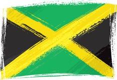 De vlag van Jamaïca van Grunge Stock Foto's