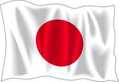 De vlag van Japan Royalty-vrije Stock Afbeeldingen