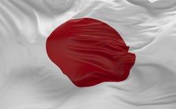 De vlag van Japan die in de 3d wind golven geeft terug Royalty-vrije Stock Afbeelding