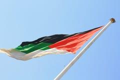De Vlag van Jordanië Stock Afbeelding