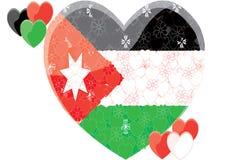 De vlag van Jordanië Stock Afbeeldingen