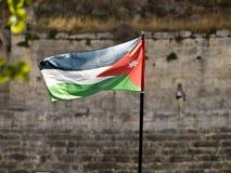 De vlag van Jordanië Royalty-vrije Stock Afbeeldingen