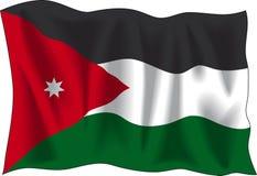 De vlag van Jordanië Stock Foto's