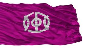De Vlag van de Joyostad, de Prefectuur van Japan, Kyoto, op Witte Achtergrond wordt geïsoleerd die royalty-vrije illustratie