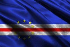 De vlag van Kaapverdië, 3D symbool van de de vlag 3D illustratie van Kaapverdië nationale Royalty-vrije Stock Afbeelding