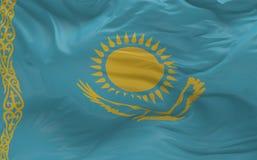 De vlag van Kazachstan die in de 3d wind golven geeft terug Royalty-vrije Stock Afbeelding