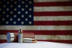De Vlag van kogels en van de V.S. Stock Afbeelding