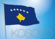 De vlag van Kosovo Royalty-vrije Stock Afbeeldingen