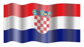 De Vlag van Kroatië royalty-vrije illustratie