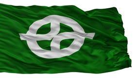 De Vlag van de Kyotanabestad, de Prefectuur van Japan, Kyoto, op Witte Achtergrond wordt geïsoleerd die royalty-vrije illustratie