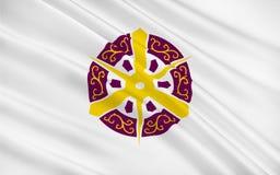 De vlag van Kyoto is een stad van de Prefectuur van Kyoto, Japan royalty-vrije illustratie