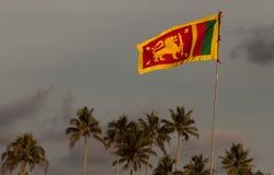 De vlag van Lankan van Sri Stock Foto