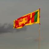 De vlag van Lankan van Sri Stock Afbeelding