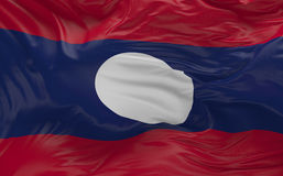 De vlag van Laos die in de 3d wind golven geeft terug Royalty-vrije Stock Afbeeldingen