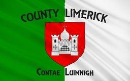 De vlag van de Limerick van de Provincie is een provincie in Ierland vector illustratie