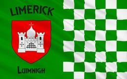 De vlag van de Limerick van de Provincie is een provincie in Ierland royalty-vrije illustratie