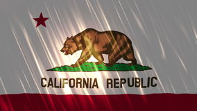 De Vlag van Loopable van de Staat van Californië stock video