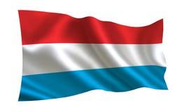 De vlag van Luxemburg, a-reeks van `-Vlaggen van de wereld ` Het land - Luxemburg Royalty-vrije Stock Afbeeldingen