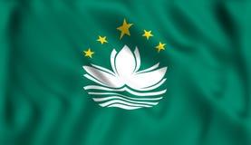 De vlag van Macao het golven de stadsgok van symboolchina royalty-vrije illustratie