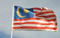 De vlag van Maleisië Stock Fotografie