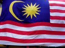 De vlag van Maleisië Royalty-vrije Stock Foto's