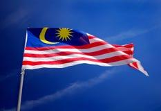 De vlag van Maleisië stock foto's