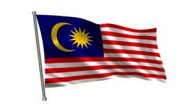 De Vlag van Maleisië Een reeks `-Vlaggen van de wereld ` Het land - de vlag van Maleisië Royalty-vrije Stock Afbeelding