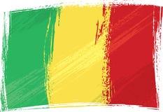De vlag van Mali van Grunge royalty-vrije illustratie