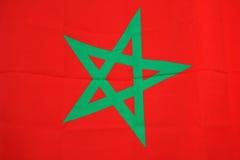 De vlag van Marokko Stock Afbeelding