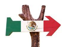 De Vlag van Mexico op witte achtergrond wordt geïsoleerd die Royalty-vrije Stock Foto