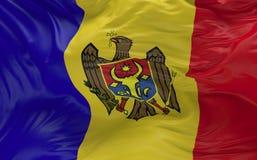 De vlag van Moldavië dat in de 3d wind golft geeft terug Stock Foto's
