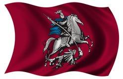De Vlag van Moskou Stock Foto