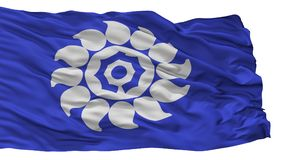 De Vlag van de Mukostad, de Prefectuur van Japan, Kyoto, op Witte Achtergrond wordt geïsoleerd die vector illustratie