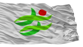 De Vlag van de Nantanstad, de Prefectuur van Japan, Kyoto, op Witte Achtergrond wordt geïsoleerd die vector illustratie
